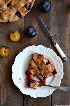 plum pie, tarte de ameixa, tarte integral, healthy pie
