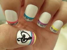 If I was better with nail polish, I would sooooo do this... With an alto clef! :D