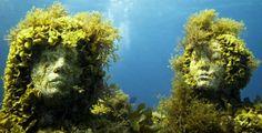 Jason de Caires Taylor's Underwater Sculptures Create Incredible Living Coral Reefs