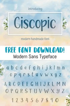 FREE FONT DOWNLOAD!