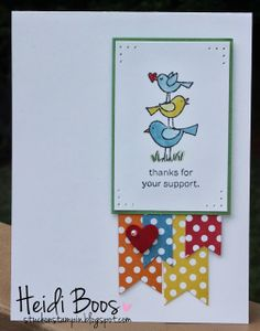 Stuck on Stampin': SS Inkspiration Card Sketch - for the birds!