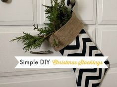 Super Easy DIY Christmas Stockings That You Should Make Right Now