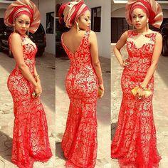 Nigerian wedding multicolored tone gele aso-ebi cy4luv212