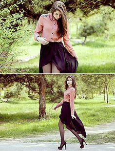 Zara Skirt, Forever 21 Shirt