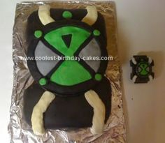 Homemade Ben 10 Birthday Cake: My son loves Ben 10 so I made this Ben 10 Birthday Cake for his 6th Birthday.  I saw a similar cake online and decided to try it myself, using my son's