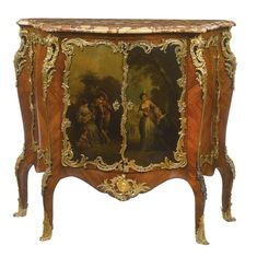 Victor Raulin, FL. 1867-1925 A Louis XV style gilt bronze and vernis-Martin decorated kingwood and ebonized meuble à hauteur d'appui France, late 19th century |