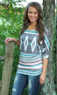 The Pink Lily Boutique - Everyday Aztec Tunic, $35.00 (http://www.thepinklilyboutique.com/everyday-aztec-tunic/)
