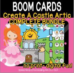 Boom Cards - Speechbop Speech Therapy, Distance, Initials, Castle, Essentials, Positivity, Student, Teaching, Digital
