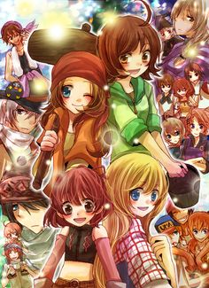 100 points if you can name all these Harvest Moon characters!