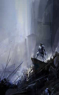 Sunset Mantle art by Richard Anderson.  #fantasy #art