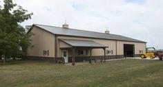 Morton Buildings farm shop in Shirley, Illinois.