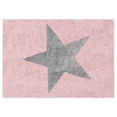 Tapete Estela Grande Rosa/Cinza