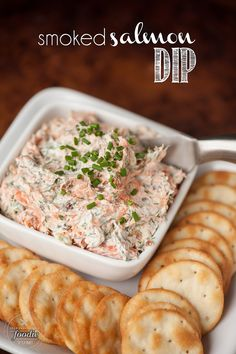 Smoked Salmon Dip made with hot smoked salmon & bacon has a spicy jalapeno kick. Also amazing as smoked salmon spread on a bagel! Dip Recipes, Seafood Recipes, Great Recipes, Cooking Recipes, Favorite Recipes, Yummy Appetizers, Appetizer Recipes, Smoked Salmon Spread, Fresco
