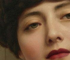 Details of John William Godward's: Eurypyle (1921) + lipstick edit - Contemplation (1903