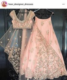 One of our Indian wedding dresses. Using one of our signature blush tones from our hand picked colour palettes. Colour customisation available with our Indian bridalwear and Indian wedding dress collection weddings Indian Bridal Outfits, Indian Designer Outfits, Indian Dresses, Indian Clothes, Indian Wedding Clothes, Asian Wedding Dress, Desi Wedding Dresses, Lehenga Wedding, Wedding Mandap