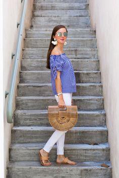 lcb style fashion blogger j crew gingham joie cult gaia ark bag