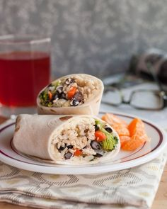 freezer-friendly healthy burritos