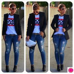 mimi g style patterns | OOTD: Zara Blazer + God Can Tee details and links @ mimigstyle.com # ...