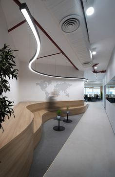 Haldia Petrochemicals & TCG Offices by Ultraconfidentiel Design Commercial Interior Design, Office Interior Design, Commercial Interiors, Interior Decorating, Office Ceiling Design, Office Designs, Modern Interior, Interior Architecture, Creative Office