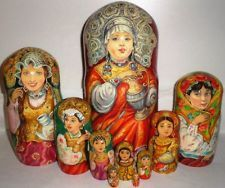 Gorgeous NESTING DOLL STACKING DOLLS BEAUTY portrait FACES LIVE AWESOME