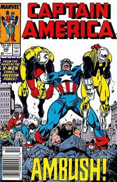 Captain America # 346 by Ron Frenz & Al Milgrom