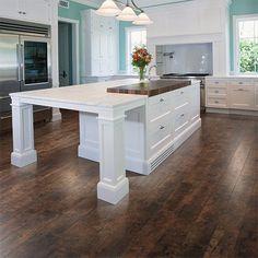 Rustic Espresso Oak textured laminate floor. Dark oak wood finish, 10mm 1-strip plank laminate flooring, easy to install and PERGO lifetime warranty.