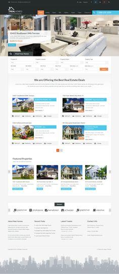 REAL HOMES - WordPress Real Estate Theme #web #design