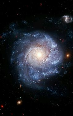 NGC 1309 A spiral galaxy 120 million light-years away in the constellation E Cosmos, Hubble Space Telescope, Space And Astronomy, Digital Foto, Ciel Nocturne, Spiral Galaxy, Hubble Images, Space Images, Light Year