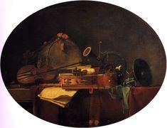 The Attributes of Civilian Music, Jean-Baptiste-Simeon Chardin, 1767. The Athenaeum