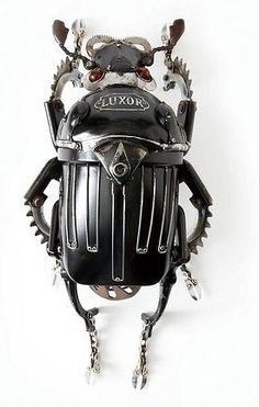 Beetle | scrap metal sculpture assembled without solder by Edouard Martinet