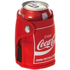 Coca Cola Can iCOOLer                             , Eco-friendly Coca-Cola Can iCOOLer insulated wrap is made of recycled soft-drink bottles, with a non-toxic gel pack within the lining designed to keep your beverage colder longer.