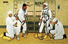 Grissom and Young, 1965. Norman Rockwell