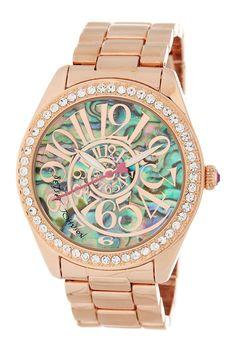 Women's Rose Gold Metal & Alloy Bracelet Watch