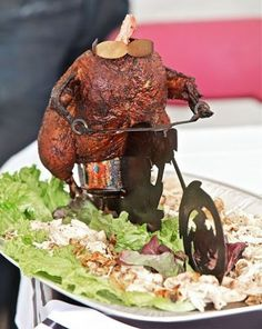 Chicken Biker with a Mohawk!! Too funny!! Find out more at www.bbqbackyard.com!