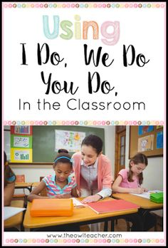 Teaching with 'I Do, We Do, You Do' If you've been teaching for at least a couple of years now, then you're probably familiar with the gradual release of responsibility method of t New Teachers, Elementary Teacher, Teachers Toolbox, Elementary Education, Math Education, Upper Elementary, Special Education, Instructional Coaching, Instructional Strategies