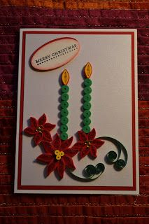 Quilled Christmas card. So very pretty! May need to start working on some now for next Christmas!