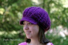 Free Crochet Turkey Hat Pattern | Crochet Pattern Slouchy Newsboy Hat | Apple Cap | Sizes Baby to Adult ...