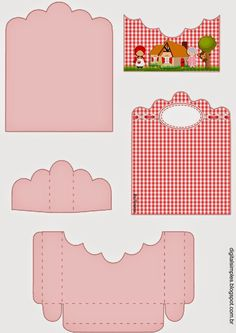Little Red Riding Hood: Free Printable Candy Packages Support.