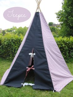 DIY teepee : All sewn up - the teepee for when Arya gets older