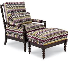 Caroline Stationary Occasional Chair - the pattern hypnotizes your guests