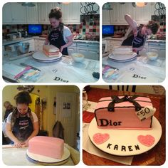 Me baking the Dior cake!  Pinned from PinTo for iPad 
