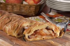 This Old World classic will make you feel like you're on a cruise along a winding European river! With all the traditional taste of a German-style strudel, our recipe for Apple Strudel uses a few shortcuts, like store-bought puff pastry, so you can g