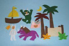 The Wild Things Children Story Flannel board Felt set