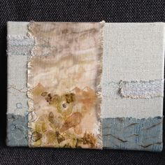 Embroidery on ecoprinted fabric by Mirjam Gielen