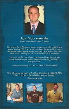 Travis Alexander Justice 2013 - Birthday