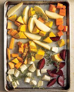 Roasted Vegetables. Use homemade vegetable broth or fresh made oj instead of oil.