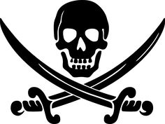 Calico Jack pirate logo - Free clip art