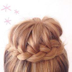 Step up your sock bun game, ladies! Beautiful Long Hair, Gorgeous Hair, Natural Hair Styles, Long Hair Styles, Bun Hair, Hair Shows, Long Curly Hair, French Braid, Great Hair