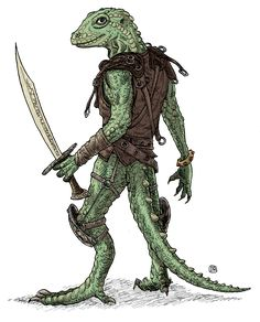 Lizardman by Domigorgon