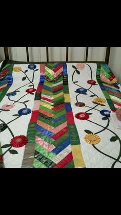 This is a great quilt made from the ribbons you win through the years....Lucky Fox Ribbons can sell you some ribbon heads, as well.
